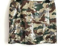True Religion Jeans Rock Skirt Sequin Camo New Authentic Size S