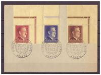 Generalgouvernement, MiNr. 89 - 91 Ecken + oberer Rand ESSt 20.04.1942