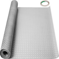 VEVOR Garage Flooring Mat Roll PVC Flooring Mat Trailer Floor Covering 4.9x19ft