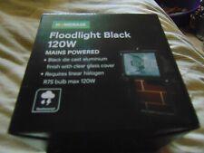 NEW Homebase 120w Black Floodlight Mains Powered Flood Light Boxed