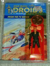 Vintage Star Wars 1985 Kenner CAS/AFA 80/80/85 THALL JOBEN DROIDS Card Back MOC!