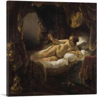ARTCANVAS Danae 1636 Canvas Art Print by Rembrandt van Rijn