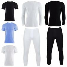 Mens Short Sleeve, Long Sleeve, Long Johns, Thermal Brushed Vest Vests T Shirt