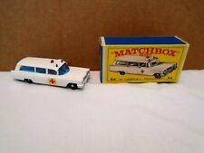 Vntg.Matchbox Lesney, #54 CADILLAC AMBULANCE, New in original box, Eng. base,/64