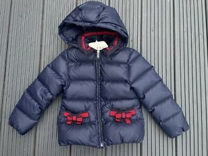 Designer Girls GUCCI Navy Bow Coat Jacket Age 5 Rp£705
