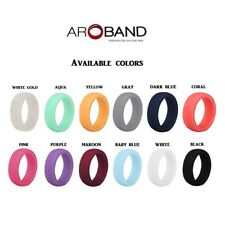 Silicone Wedding Band Engagement Ring Hypoallergenic Active Rubber Band womens