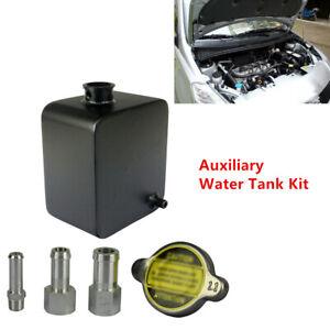 Car Heat Dissipation Ventilation Kettle Aluminum Auxiliary Water Tank Black Set