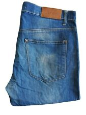 Acne Mens W36 L34 Blue Straight Fit Jeans