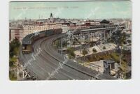PPC POSTCARD NEW YORK CITY ELEVATED CURVE AT 110TH ST