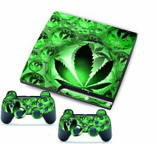 Green for PlayStation 3 PS3 Slim Console Controller Custom Stickers Skins