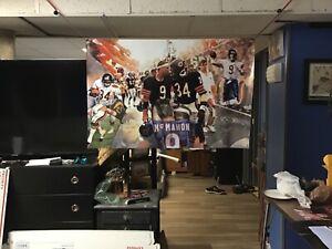 NEW HUGE! 44x29 Walter Payton Jim McMahon vinyl banner POSTER Chicago Bears ART.