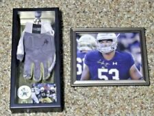 Notre Dame Signed Glove - Sam Mustipher - Black Wood Shadow Box + Signed Print