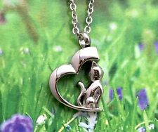Cat Cremation Necklace Jewelry Pendant Urn for Ashes Kitty In My Heart Memorial
