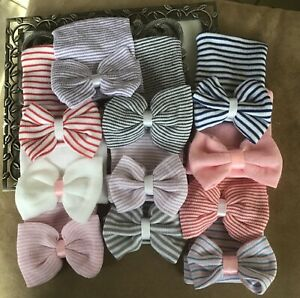 Wholesale baby girl hospital bow hat, your choice of color, DIY, baby shower