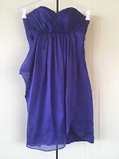 Forever New Purple Silk Chiffon Overlay Pleated Bodice Strapless Dress Sz 10