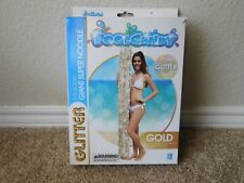 New in box Pool Candy Gold Holographic Glitter inflatable giant super noodle