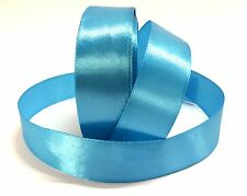 SATIN RIBBON 1 INCH 24mm wide party wedding color SKY BLUE reel best bargain