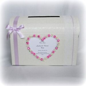 Luxury Personalised Wedding  Card Chest Post Box