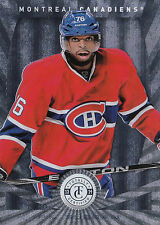 13/14 PANINI TOTALLY CERTIFIED BASE #16 PK SUBBAN CANADIENS *11552