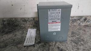 Square D 2S1F 240VAC, 480VAC Input 120VAC, 240VAC Out Single Phase Transformer