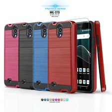 for CRICKET VISION (QS5509A), [Protech Series] Phone Case Cover +Tempered Glass