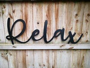 Relax Letters lettering Sign Metal Home bar Pub Vintage Beer Kitchen