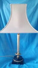 Brass and marble Corinthian column table lamp.