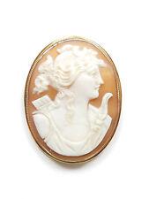 Broche camafeo dama antigua victoriana Antique Victorian 9 de 9 quilates 10g Oro Rosa