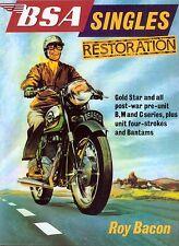 BSA Singles Restoration  By Roy Bacon B31 B33 B34 M20 M21 Book