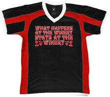 What Happens At The Winery Stays Wine Drunk Get Vino On Men's V-Neck Sport Tee