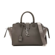 SAINT LAURENT YSL Women's Gray Small Cabas Crocodile Handbag 436834 NWT