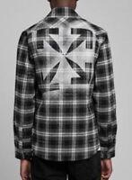 Off White Mens Black and White Stencil Shirt AW20 Genuine