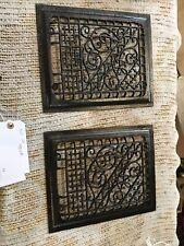 J 32 two Av Price Each Antique Cast-Iron Heating Grate Face 9 5/8 X 11.75