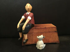TinTin & Snowy, comic figurines, cartoon characters.
