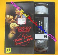 VHS film IL POSTINO SUONA SEMPRE DUE VOLTE Nicholson Lange L'UNITA'(F113) no dvd