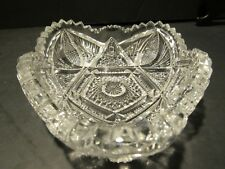 Vintage Imperial Glass American Brilliant Small Dish~Glass/Crystal~Signed IG