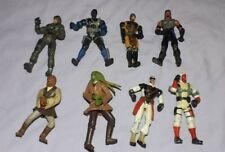 HASBRO LOT OF 8 ACTION FIGURES 2001 2003 2004 MILITARY ARMY ????