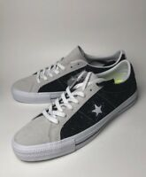 Converse One Star Pro Suede Ox Mens 9.5 Black White Skateboard Shoes Sneakers