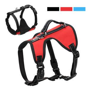 Front Clip Dog Harness Adjustable Reflective Soft Padded for Doberman Rottweiler