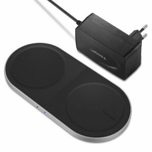 SPIGEN SGP DUO Dual Wireless Qi Charger 10W - BLACK - F310W - EU PLUG