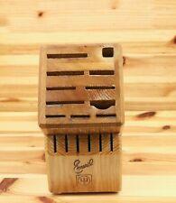 Emeril Wusthof Wood Wooden Knife Block Storage Holder 17 Slot Countertop Oak