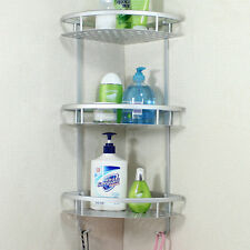 Bathroom Accessories Space Aluminum Shower Caddy Wire Basket Storage Shelves ~!