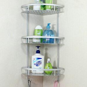 Bathroom Accessories Space Aluminum Shower Caddy Wire Basket Storage Shelves BA