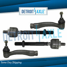 4pc Kit New Complete Tie Rod Both Inner and Outer Tie Rods fits Civic/Acura EL