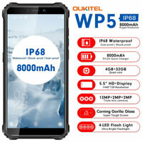 "5.5"" OUKITEL WP5 4G LTE Rugged Android Smartphone Waterproof Phone Dual SIM GPS"