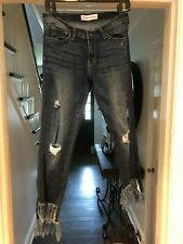 Ladies Flying Monkey Jeans Fringed Bottom Size 29