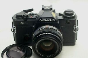 Olympus OM-4 Film Camera Black w/Zuiko 50mm 1.8 *Excellent*
