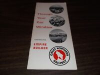 JUNE 1955 GREAT NORTHERN RAILWAY EMPIRE BUILDER THROUGH YOUR CAR WINDOW BOOKLET