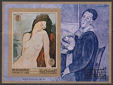 Manama 1970 ** Bl.99 B Gemälde painting Modigliani