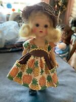 Ginny Vogue Doll In Pineapple Dress Beautiful Face.